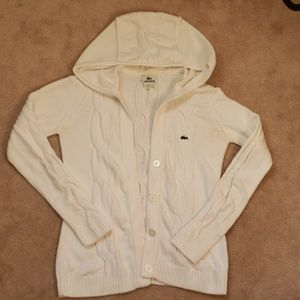 Lacoste Button Up Sweater Cardigan